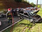 Cinco ficam feridos após acidente com três carros em João Pessoa