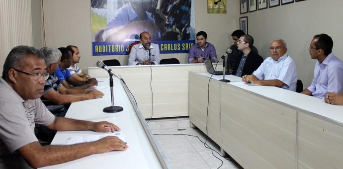Cesarino Oliveira, presidente da FFP (Foto: Emanuele Madeira/GloboEsporte.com)
