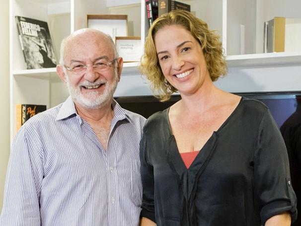 Silvio de Abreu e Helena Lara Resende (Foto: Globo)