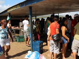 Venda de peixes RO (Foto: Renato Pereira)