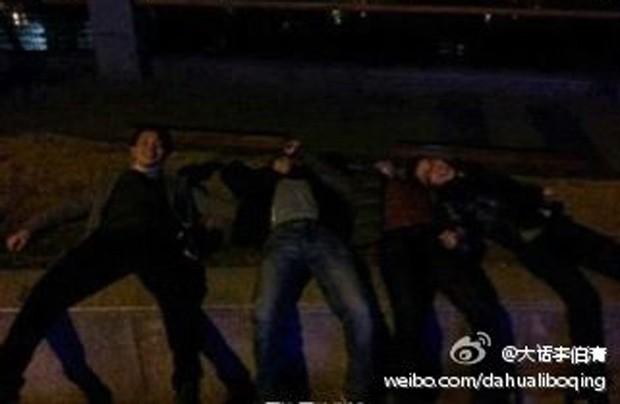Caso virou piada, fazendo com que chineses deitassem na grama para tentar 'a mesma sorte' (Foto: Reprodução)