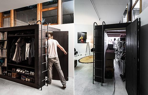 Dentro do móve, há um quartinho da bagunça (Foto: Divulgação)