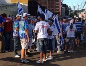 Em Porto Velho, fiéis se reúnem para Marcha para Jesus. (Foto: Taísa Arruda/G1)