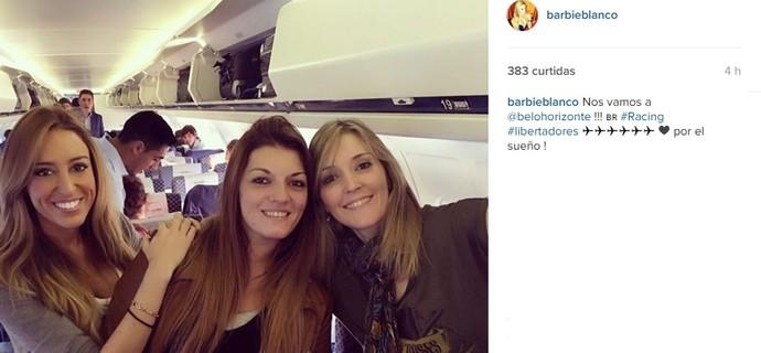Filhas do presidente do Racing estão em Belo Horizonte (Foto: Reprodução / Instagram)