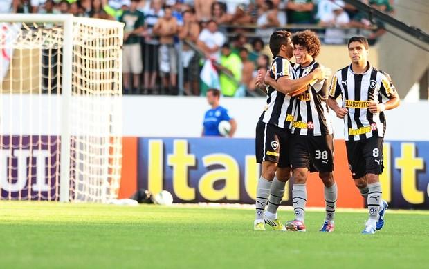 Jogadores do Botafogo comemoram gol (Foto: Marcos Ribolli / Globoesporte.com)