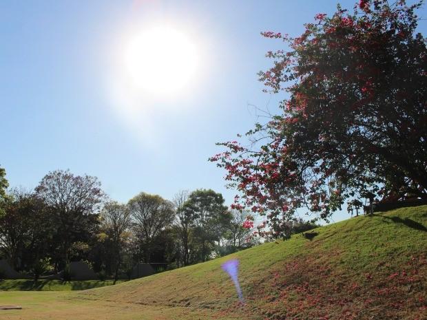 Céu de Campo Grande na tarde desta terça-feira (9) (Foto: Maria Caroline Palieraqui/G1 MS)
