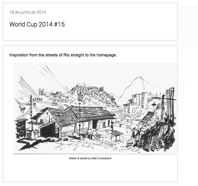 Imagem que inspirou o Google a fazer a homenagem às favelas cariocas em seu Doodle (Foto: Divulgação/Google)