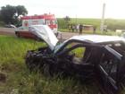 Cinco pessoas ficam gravemente feridas após capotamento em rodovia