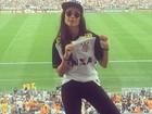 Thaila Ayala vai ao jogo do Corinthians e festeja: 'Meu time só me dá alegria'