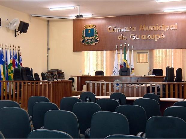 câmara municipal de Guaxupé (Foto: Reprodução/EPTV)