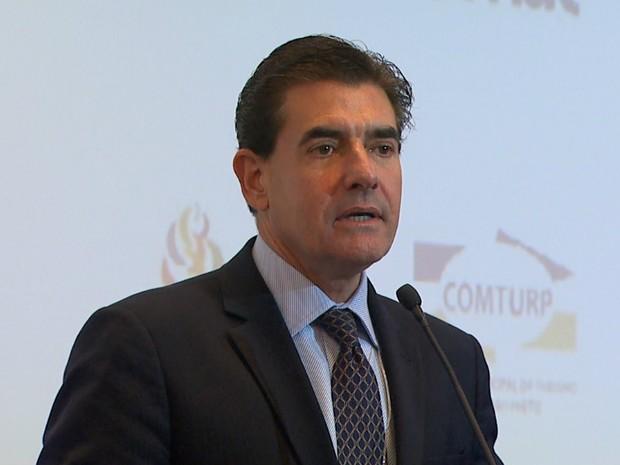 Prefeito eleito de Ribeirão Preto, Duarte Nogueira (PSDB), participou da Conaserv (Foto: Reprodução/EPTV)