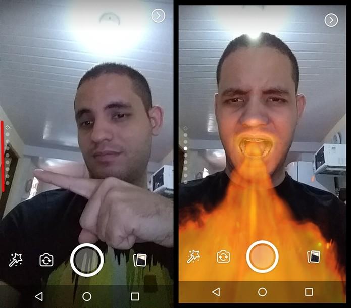 Usando os filtros mais rapidamente (Foto: Felipe Alencar / TechTudo)