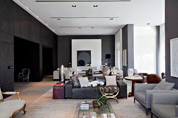 decoracao de interiores sao joao da madeira:Sobriedade e jardim decoram tríplex – Casa Vogue