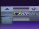 Caixão de Senna veio entre a classe de passageiros (Reprodução SporTV)