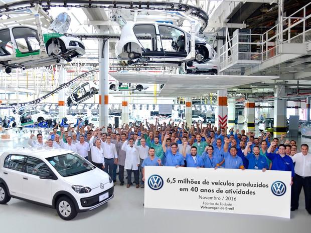 Volks atinge marca de 6,5 milhões de carros produzidos em Taubaté, SP (Foto: Divulgação/ Volkswagen)