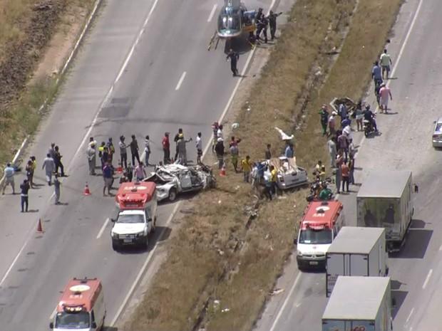 acidente br101 (Foto: Reprodução/TV Globo)