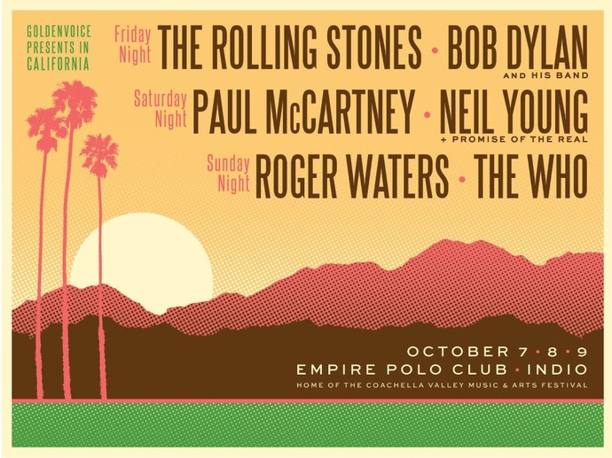 Desert Trip vai reunir grandes nomes do rock: Stones, Bob Dylan; McCartney, Neil Young, Roger Waters e The Who (Foto: Divulgação)