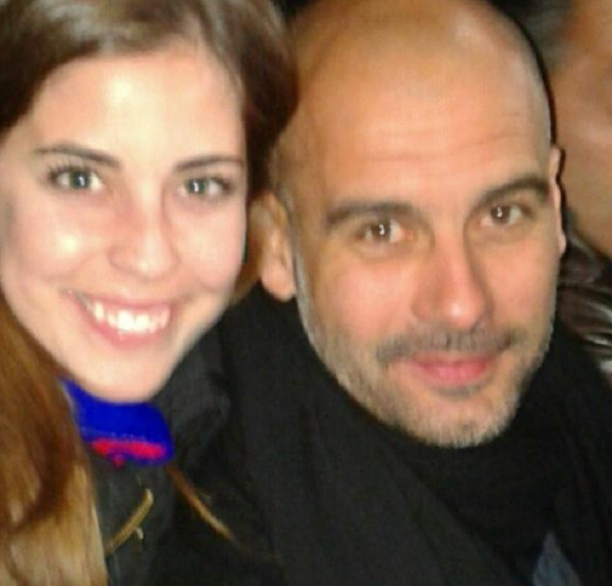 Selfie com Guardiola no Camp Nou