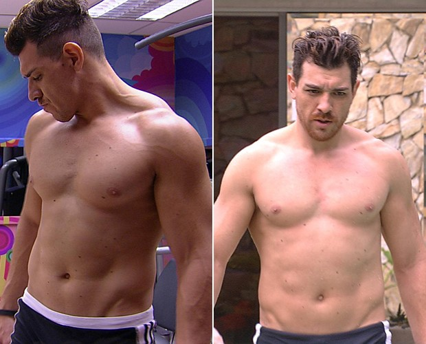Cézar foi um dos que mais ganhou peso: de 85,3 kg para 87,5 kg (Foto: TV Globo)
