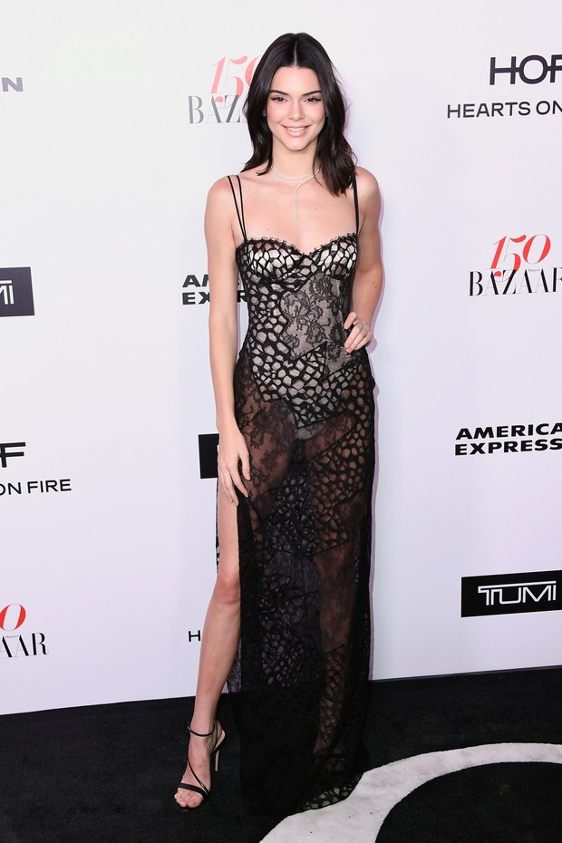 Kendall Jenner em evento em Los Angeles, nos Estados Unidos (Foto: Frazer Harrison/ Getty Images/ AFP)