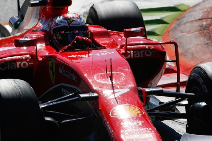 Kimi Raikkonen em ação no GP da Itália (Foto: Getty Images)