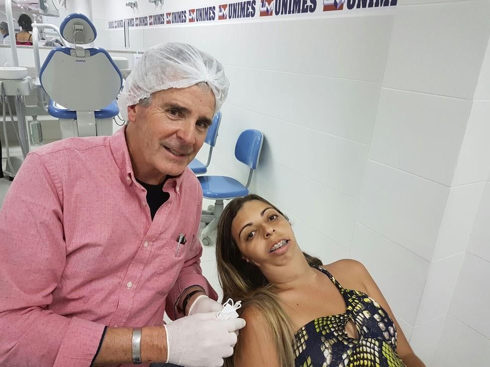 Cirurgia deve melhorar a qualidade de vida de Luciene (Foto: Divulgação/Unimes)