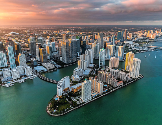 Vista panorâmica de Miami (Foto: Stock Photos/Getty Images)