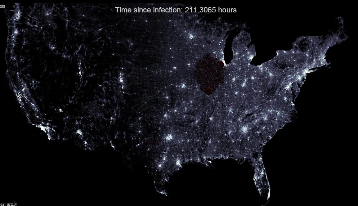 Site simula quanto tempo demoraria pra um apocalipse zumbi devastar os Estados Unidos
