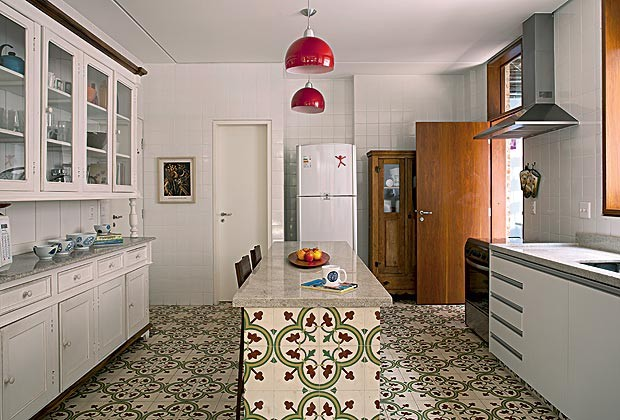 Decoração de casa com ares de interior  Casa e Jardim  Tijolinho # Ilha Cozinha Em Alvenaria