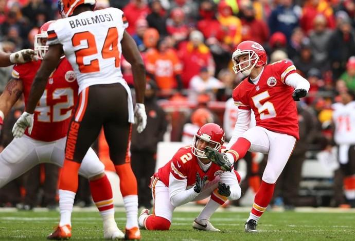 Cairo Santos - Kansas City Chiefs x Cleveland Browns - NFL (Foto: Divulgação/Kansas City Chiefs)