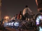 Detran usa energia produzida por bicicletas para exibir filmes no DF