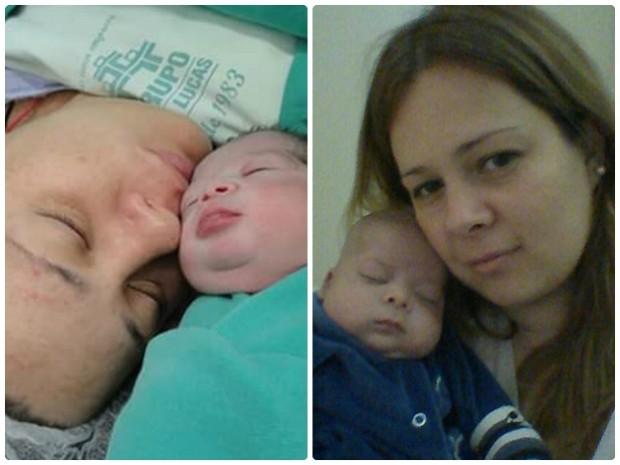 Kelly acompanhou tratamento de 2 meses do filho: 'dormia na cadeira todo dia' (Foto: Arquivo Pessoal/ Kelly Braga)