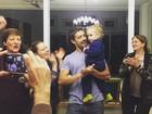 Rafael Cardoso comemora o aniversário da filha, Aurora