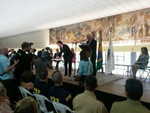 Daniel Guerra toma posse em Caxias do Sul (Foto: RBS Tv Caxias do Sul)