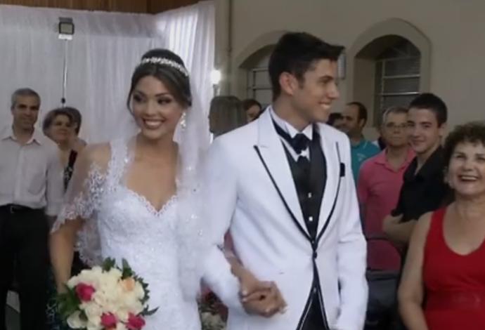 Casamento de Thiago Braz e Ana Paula (Foto: reprodução)
