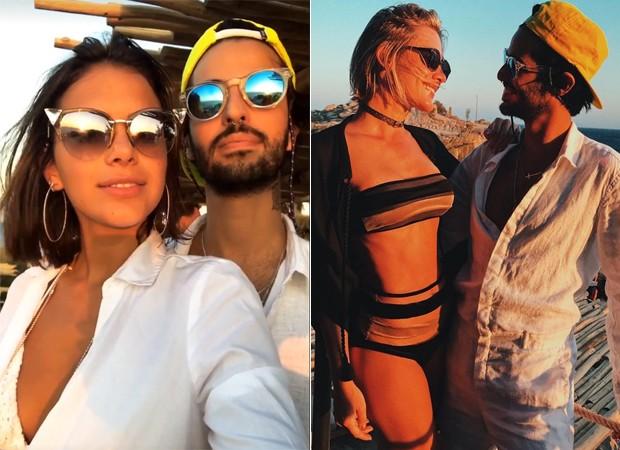 Bruna Marquezine e Fiorella Mattheis com André Nicolau (Foto: Reprodução)
