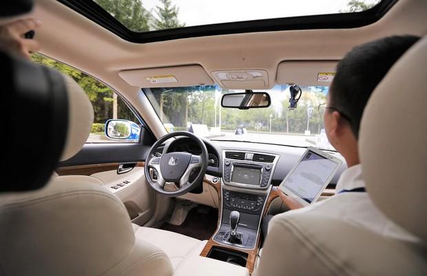 Interior do veículo autônomo da Changan  (Foto: Divulgação)