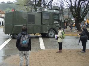 Carro forças especiais Chile (Foto: Alexandre Lozetti)