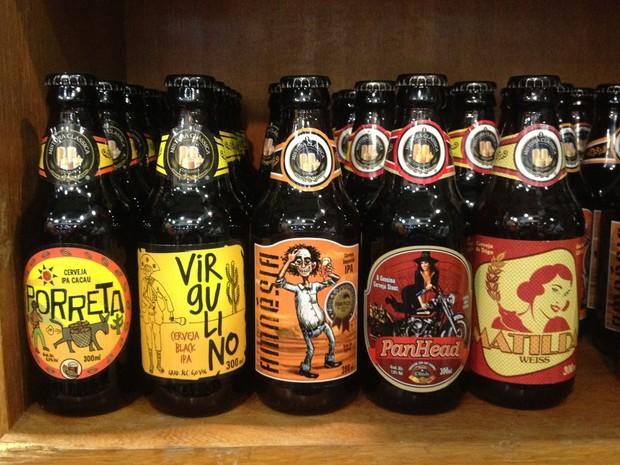 Cardápio da Mistura Clássica ainda tem as cervejas Porreta, Virgulino, Amnésia, Pan Head e Matilde. (Foto: Glauco Araújo/G1)
