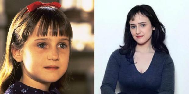 Mara Wilson em Matilda e hoje (Foto: Divulgação/ IMDB)