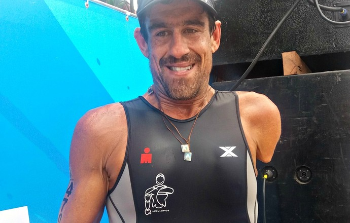 EuAtleta - Iron 70.3 Rio atleta amputado (Foto: Renata Domingues)