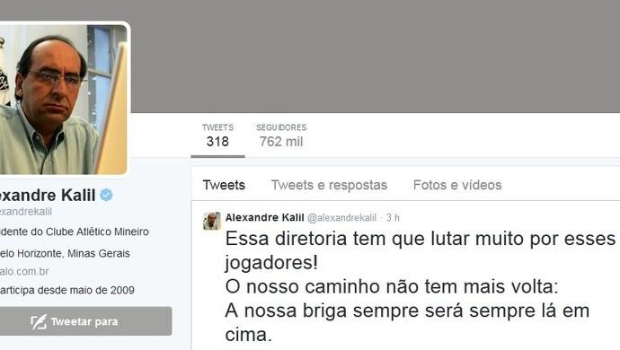 Alexandre Kalil, twitter, Atlético-MG, presidente (Foto: Arquivo pessoal/divulgação)