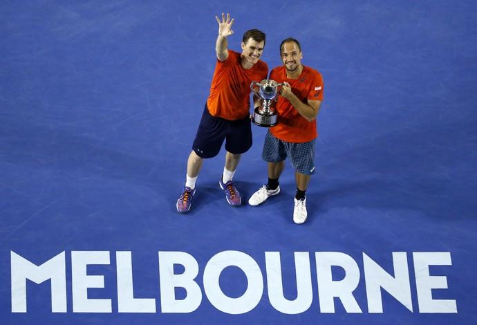 Bruno Soares e Jamie Murray, final Australian Open 2016 Aberto da Austrália tênis (Foto: AP)