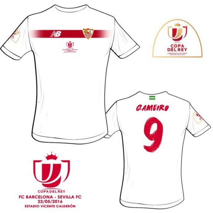 BLOG: Sevilla lança camisa exclusiva para a final da Copa do Rei contra o Barcelona