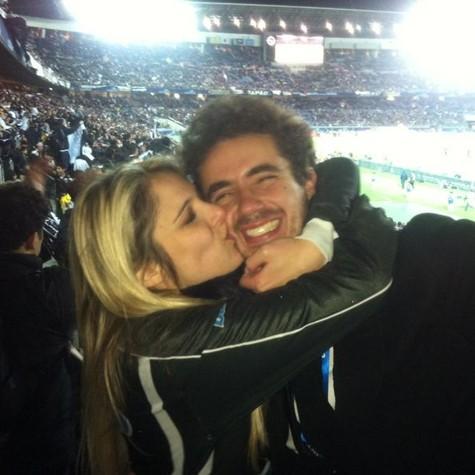Felipe Andreoli e Rafaela, no Japão (Foto: Arquivo pessoal)