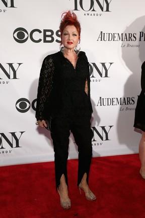 Cyndi Lauper no Tony Awards, em Nova York, nos Estados Unidos (Foto: Larry Busacca/ Getty Images/ AFP)
