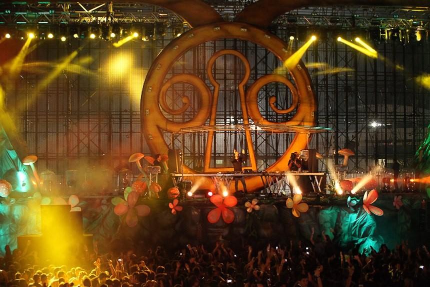 David Guetta no Dream Valley Festival 2012 (Foto: Dream Valley Festival/Divulgação)