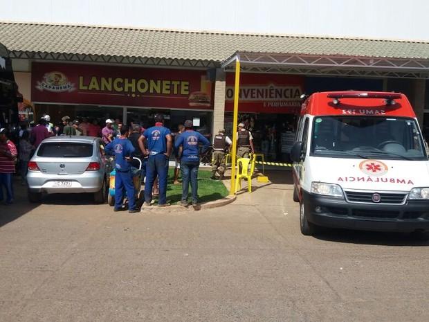 Crime em loja de conveniência em posto de combustível em Barreiras (Foto: Fernandez Fernandes/Blog Sigi Vilares)