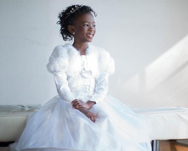 """""""Toda menina deveria acreditar que ela pode ser uma princesa, independente da raça"""", diz Morgan Elizabeth Taylor, de 7 anos (Foto: Divulgação)"""
