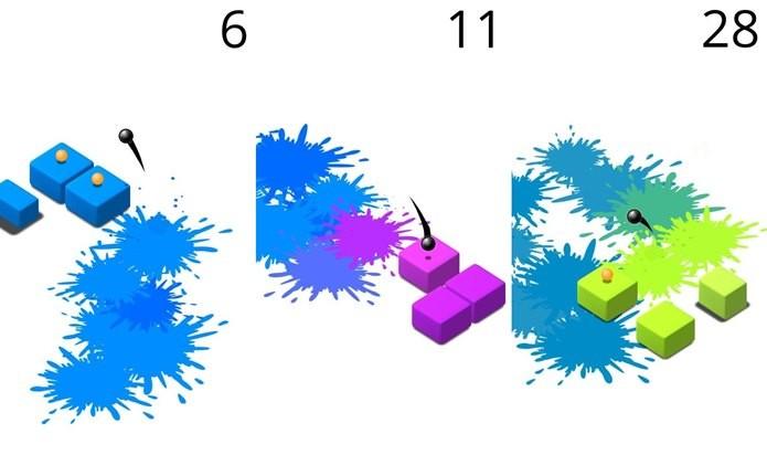 Splash parece fácil, mas os blocos vão mudando de tamanho à medida que o jogo acontece (Foto: Divulgação / Ketchapp)